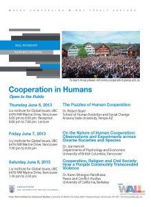 Cooperation in Humans Workshop – June 2013